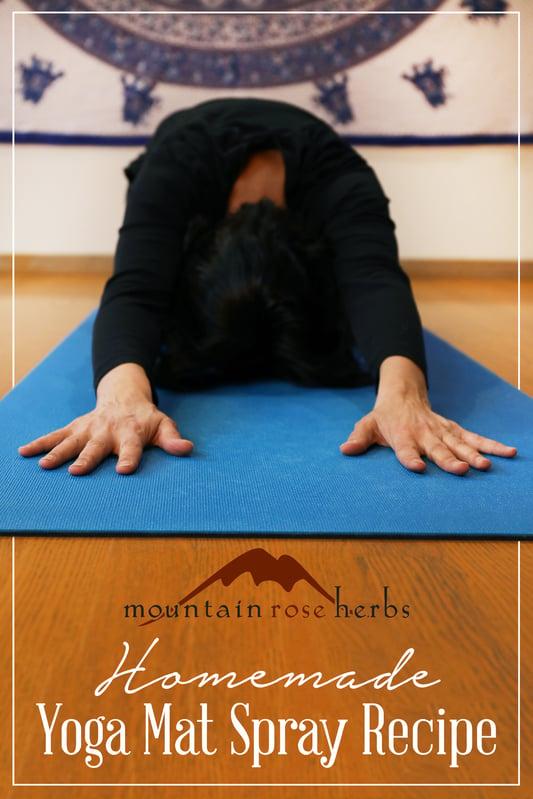 Pin to Homemade Yoga Mat Spray Recipe