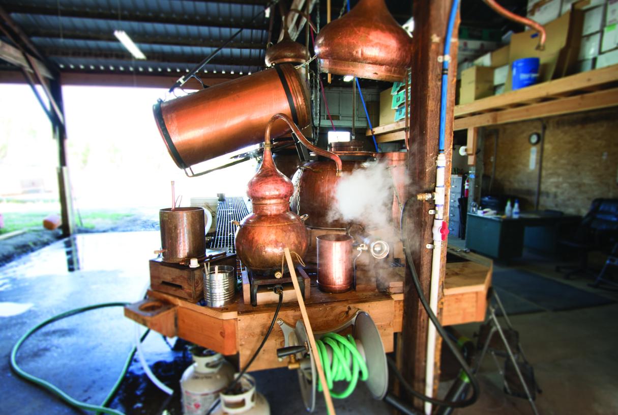 Distillery for hydrosols, complete with copper stills from Portugal