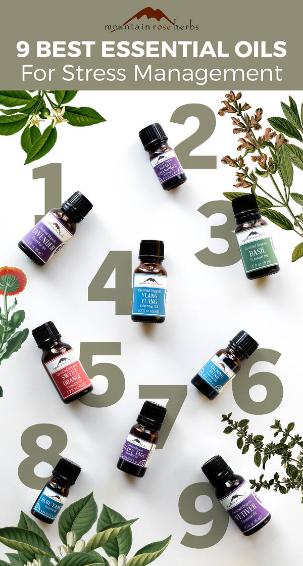 9 Best Essential oils for Stress Management