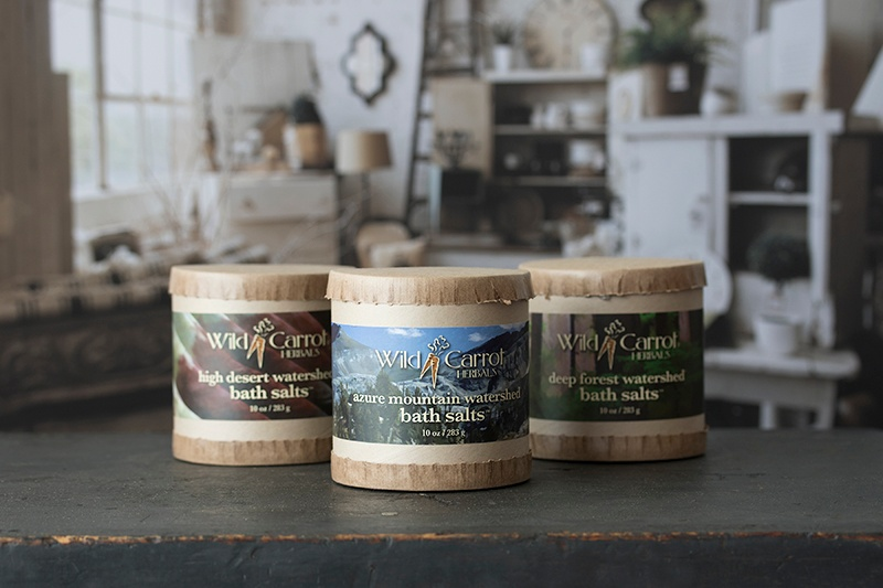 Wild Carrot Botanical Bath Salts Packaging