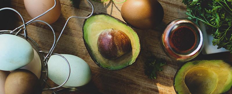 Avocado and farm fresh eggs for a perfect keto-friendly breakfast